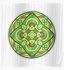 Mandala Compass Poster
