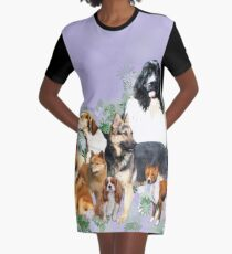 Group of dogs..pack of dogs Graphic T-Shirt Dress