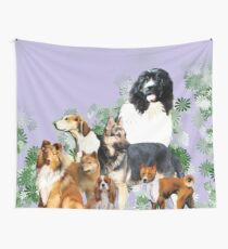 Group of dogs..pack of dogs Wall Tapestry
