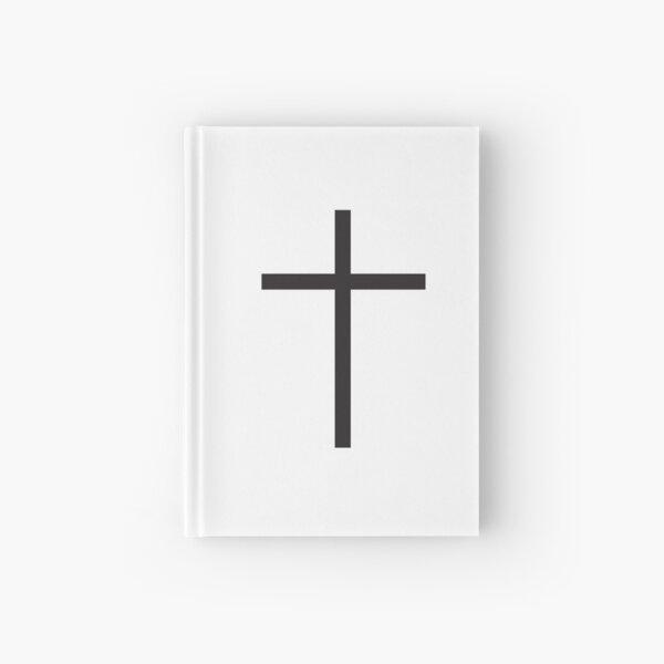Simple Cross. Christian, Crucifix, Crucifixion, Christ, Christianity, Jesus, Lord, Saviour, Bible, Biblical, Black. Hardcover Journal