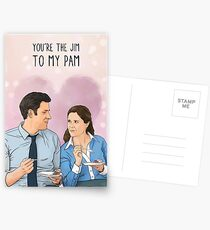 The Office - You're the Jim to my Pam Postcards