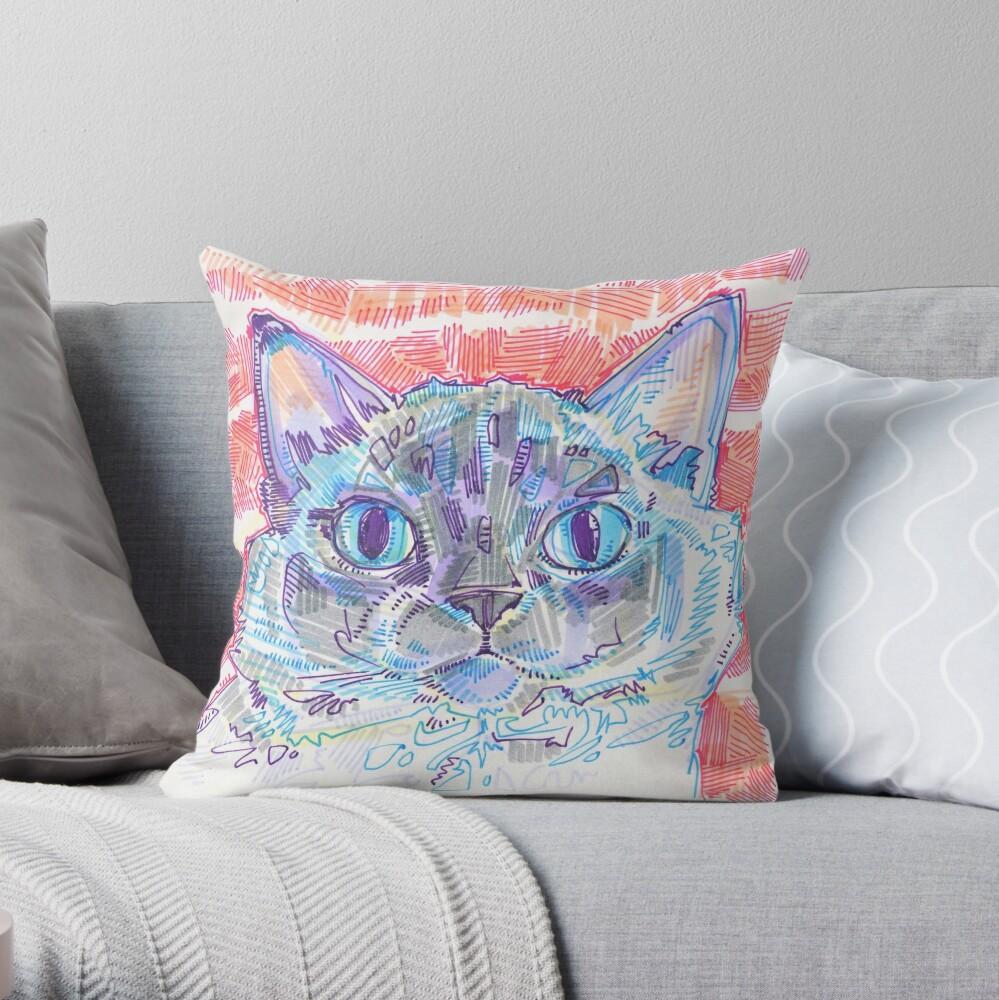 Ragdoll Cat Drawing - 2016 Throw Pillow