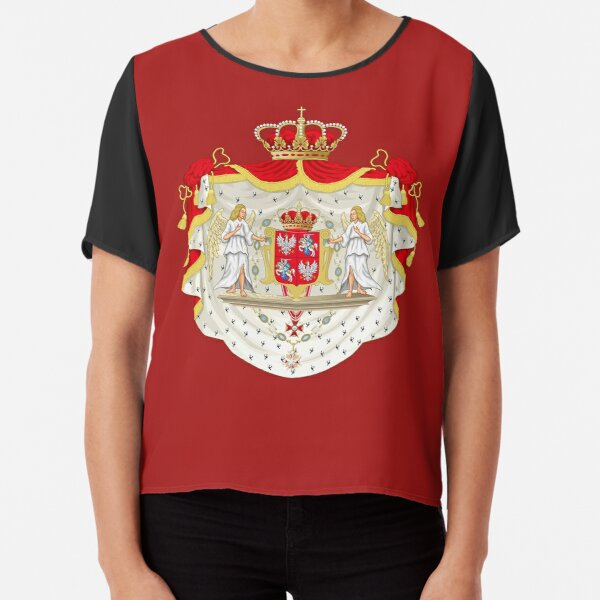 Coat of Arms of the Polish-Lithuanian Commonwealth Chiffon Top