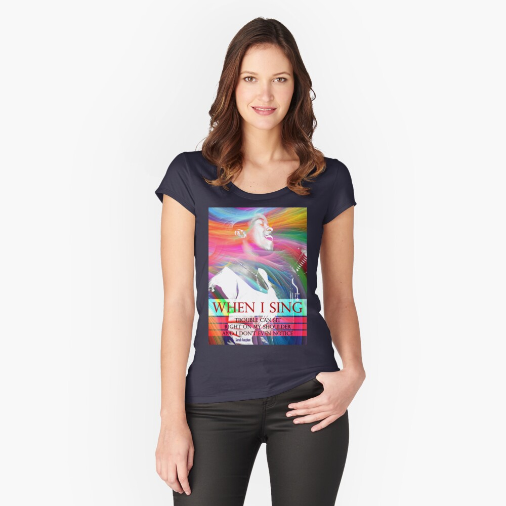 Sarah Vaughan Inspirational Quote Fitted Scoop T-Shirt