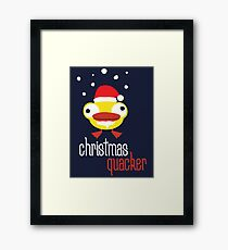 Christmas quacker novelty festive Christmas design Framed Print