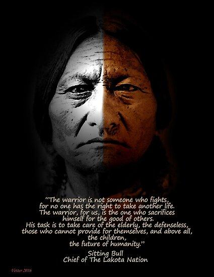 Sitting Bull Warrior Zitat. Poster von Irisangel