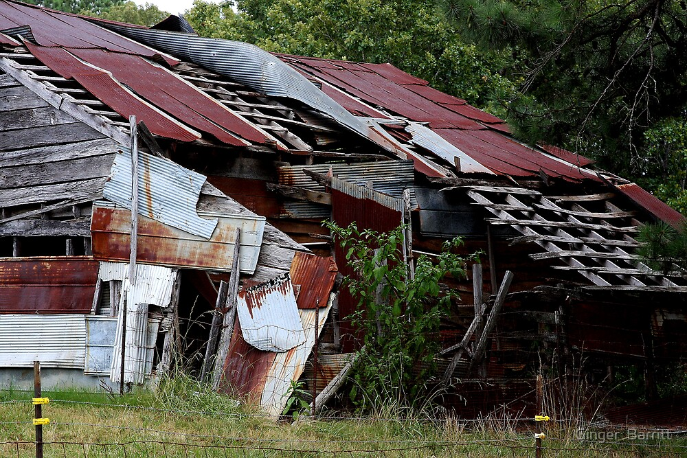 """TIN ROOF'S ...RUSTED... by Ginger  Barritt"