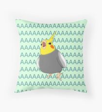 cockatiel AAAAA Throw Pillow