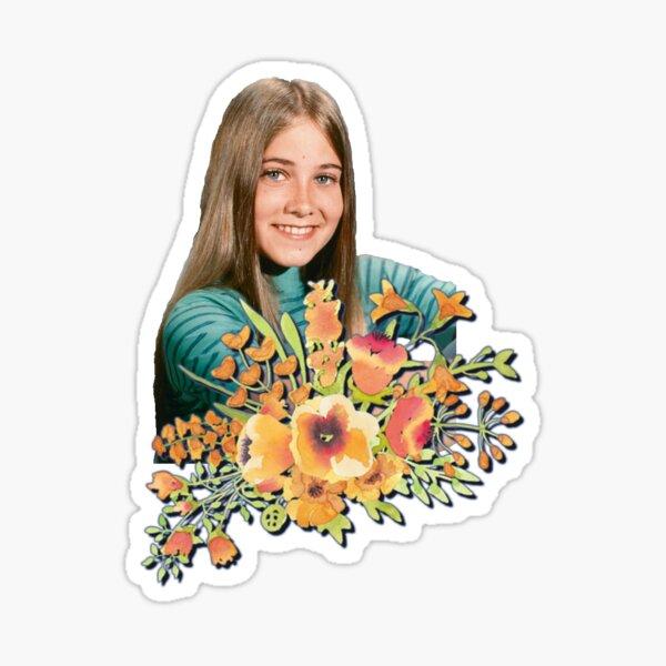 Marcia Brady Flowers Sticker
