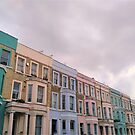 Colourful houses in Notting Hill, London by TalBright