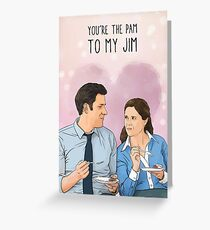 Das Büro - Du bist die Pam zu meinem Jim Grußkarte