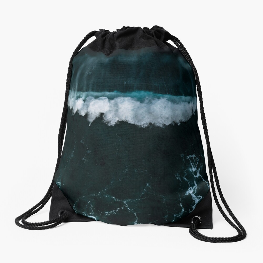 Wave in Motion - Ocean Photography Drawstring Bag