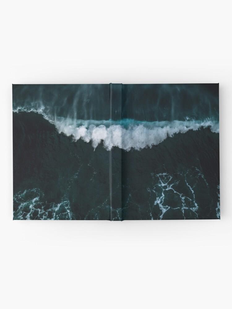 Alternative Ansicht von Welle in Bewegung - Ozean Fotografie Notizbuch