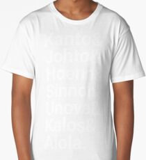 Pokémon regions Long T-Shirt
