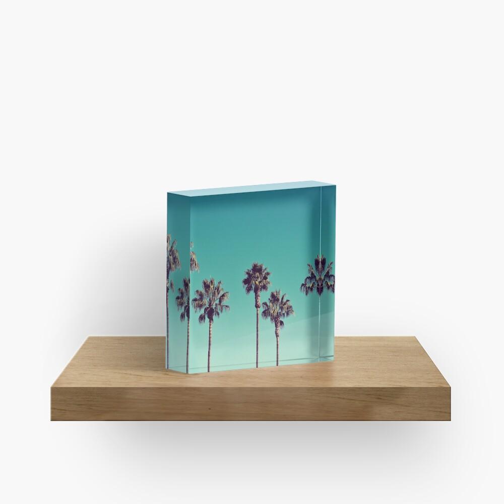 California Palm Trees Acrylic Block