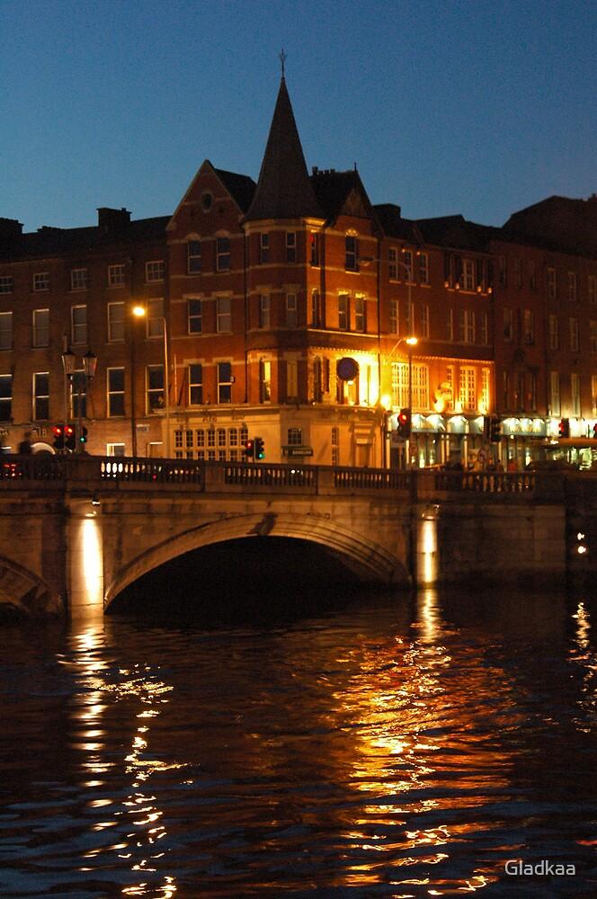 Lighty night in Cork City, Ireland by Gladkaa