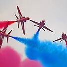 The Red Arrows At Flying Legends 4 by Colin  Williams Photography