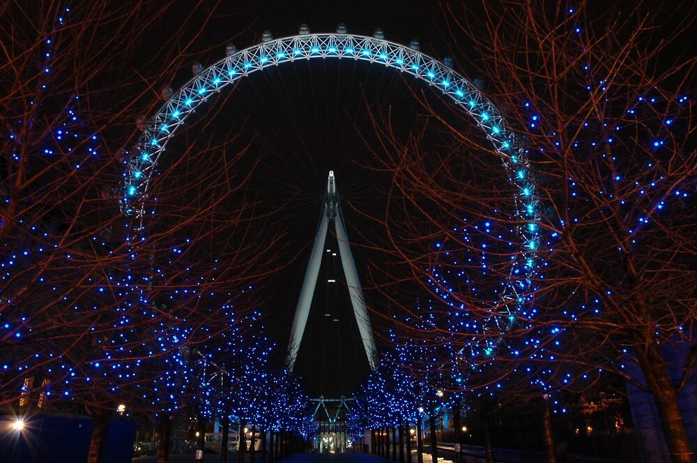London eye at christmas. by DAra KHaled