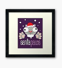 Santa paws, novelty festive Christmas design Framed Print