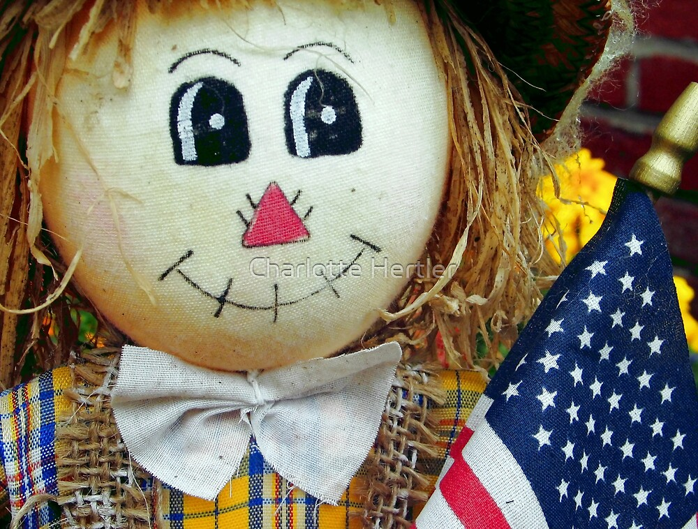 Patriotic Scarecrow by Charlotte Hertler