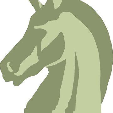 Pixel Prophecy Unicorn Head Logo by philstrahl