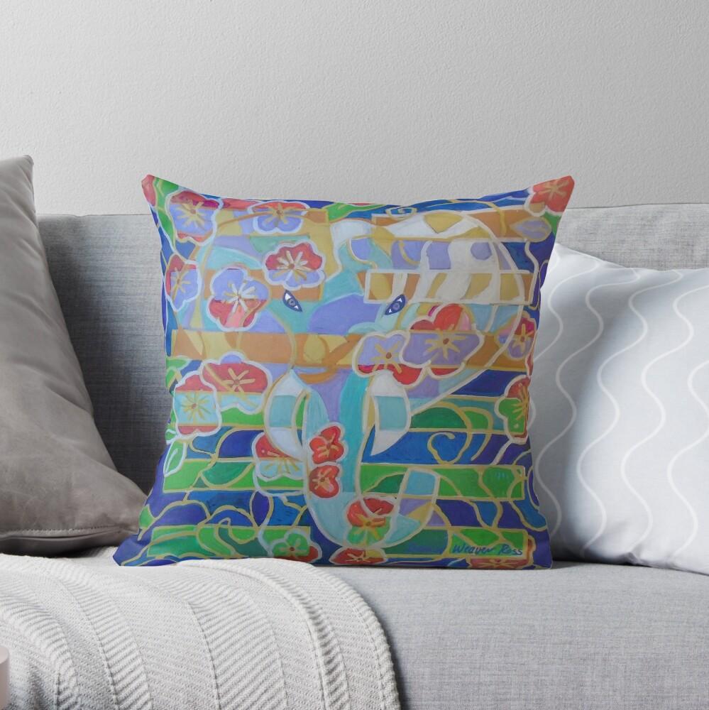 Hexagram 16: Yu (Enthusiasm) Throw Pillow