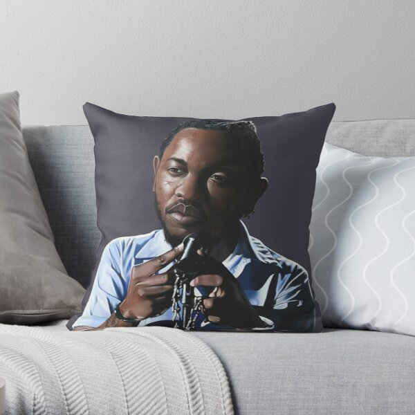 Kendrick Lamar Digital Painting Throw Pillow