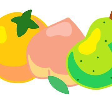 Animal Crossing Fruit by vdschiro