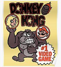 Vintage Donkey Kong Sticker Poster