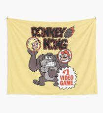 Vintage Donkey Kong Sticker Wall Tapestry