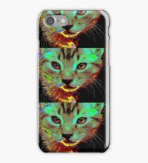 Techno Cat! iPhone Case/Skin