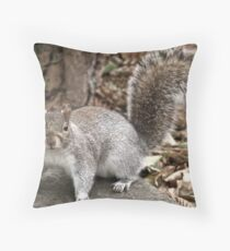 Syd the Squirrel Throw Pillow