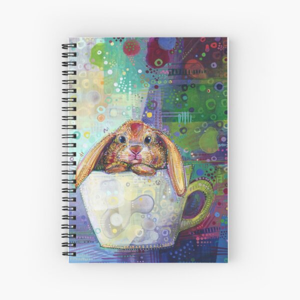 Bunny in a Teacup Painting - 2010 Spiral Notebook