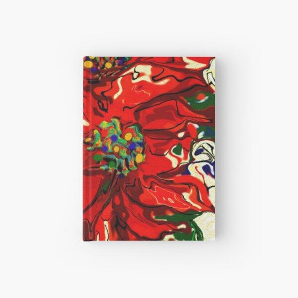 Red Poinsettia Hardcover Journal
