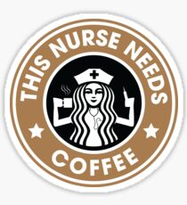 This Nurse Needs Coffee Registered Nurse Funny Gifts Sticker