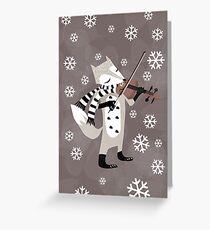 foxy violinist winter Greeting Card