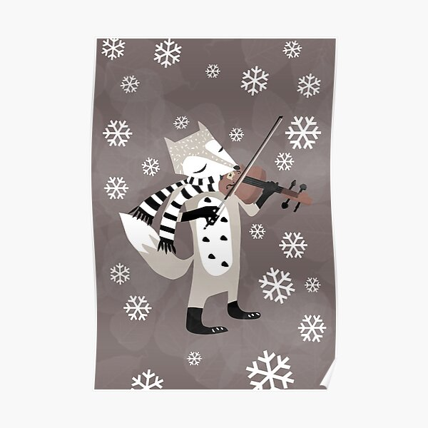 foxy violinist winter Poster