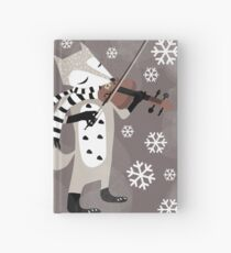 foxy violinist winter Hardcover Journal