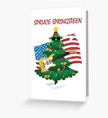 Spruce Springsteen Greeting Card