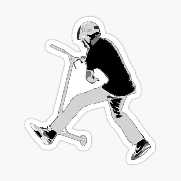 Stunt Scooter Champion Sticker