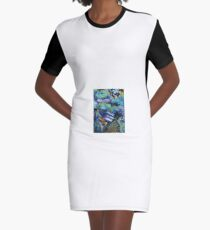 The haven of the Moon Graphic T-Shirt Dress