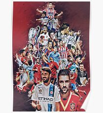 "David ""El Guaje"" Villa (Melbourne City- Spain NT) Poster"