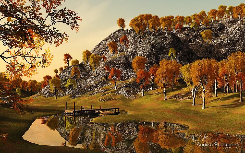 Autumn lake by Annika Strömgren