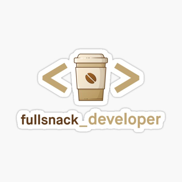 Kaffee und Code - Fullsnack Entwickler Sticker