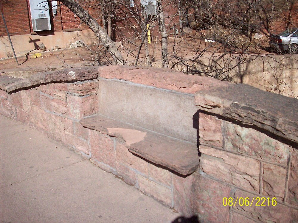 Stone Bench, Manitou Springs by HungarianGypsy