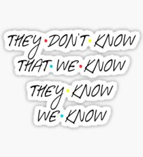 They don't know Sticker