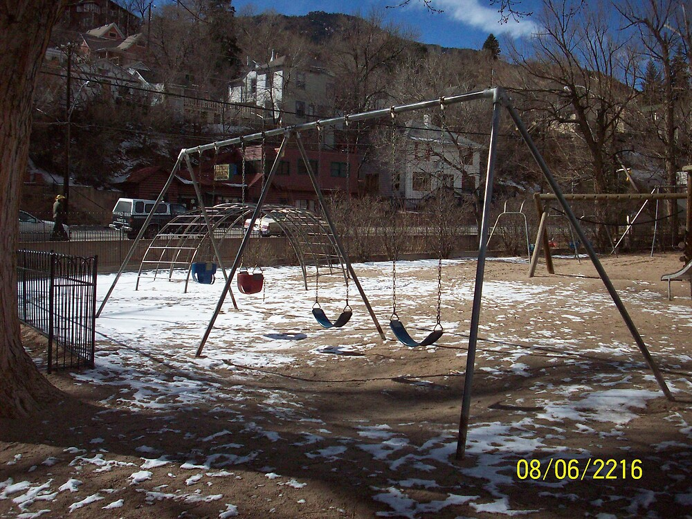 Soda Springs Park Playground, Manitou Springs by HungarianGypsy