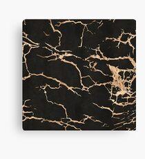 Black and Gold Cracks Canvas Print
