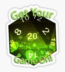 Get Your Game On! Green Sticker