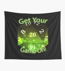 Get Your Game On! Green Wall Tapestry